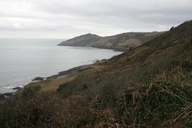View west near Rame Head