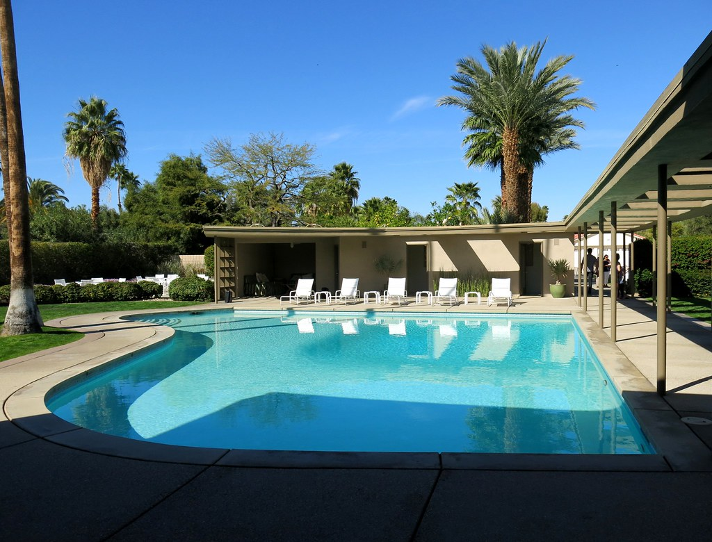 Palm Springs Sinatra House Piano Shaped Pool Heather David