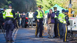 Citizens Protest Against Kinder Morgan's Oil Pipeline on Burnaby Mountain | by Mark Klotz