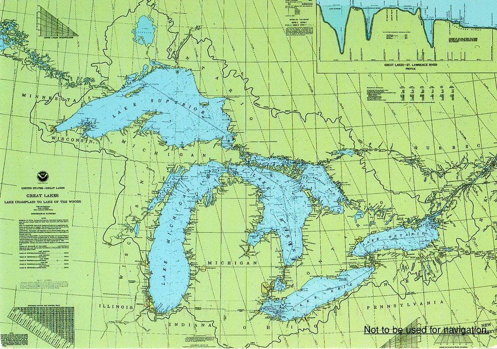 PK, Great Lakes Chart Map USA and Canada, NOT FOR SWAP. | Flickr