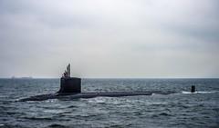 USS Hawaii (SNN 776) approaches Fleet Activities Yokosuka, Japan, Feb. 5.  (U.S. Navy/MC2 Declan Barnes)