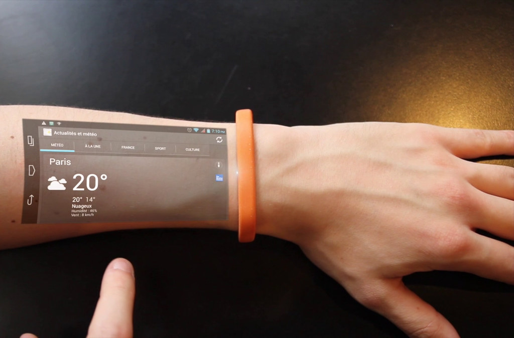 Cicret  Wearable Projection Band