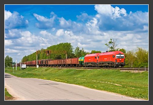 kutiškiai litauen lietuvosgeležinkeliai er20cf er20 siemens eurorunner rail railroadphotography vlak spoorwegen railroad railway treno trein поезд lietuva