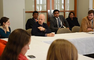 Global Development Roundtable discussion with a focus on human trafficking with Attorney General of Thailand and Tulane Law alum, Trakul Winitnaiyapak.
