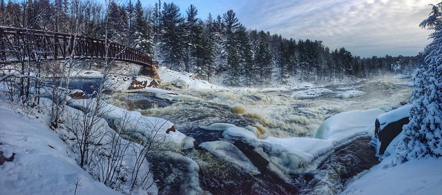 Onaping Falls Winter Pano