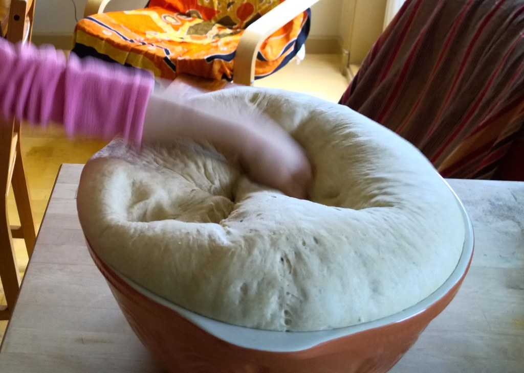 Knocking back bread dough | Ruth Hartnup | Flickr