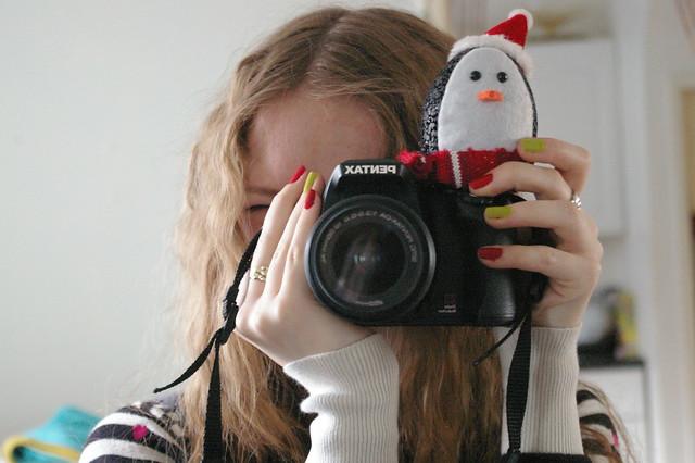 Penguin photobomb!