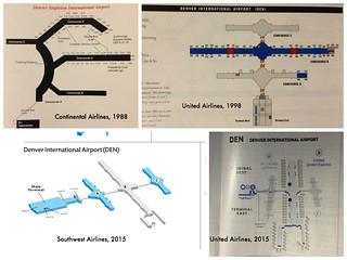 Denver Airport terminal maps, 1988-2015 | Four airline termi… | Flickr