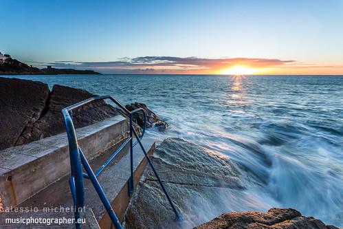 ocean ireland sea seascape beach sunrise landscape scenery cliffs dalkey alessiomichelini hawkcliff musicphotographereu