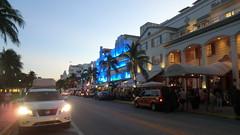Miami Beach: Ocean Drive at dusk - the Art Deco District