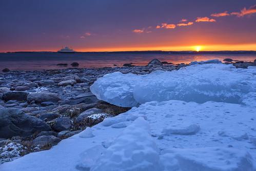 sunset seascape colour ice water norway ferry landscape boat norge moss rocks scandinavia østfold waterscape ferge horten vestfold ef1740mml canon5dmkii bentvelling
