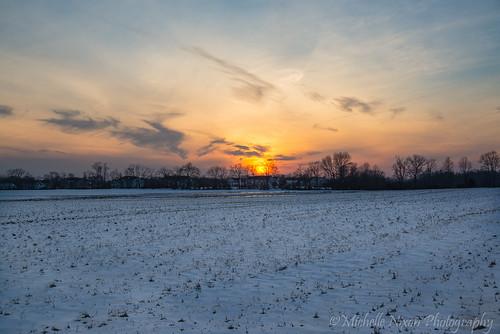 winter sunset snow storm ice newjersey snowy nj