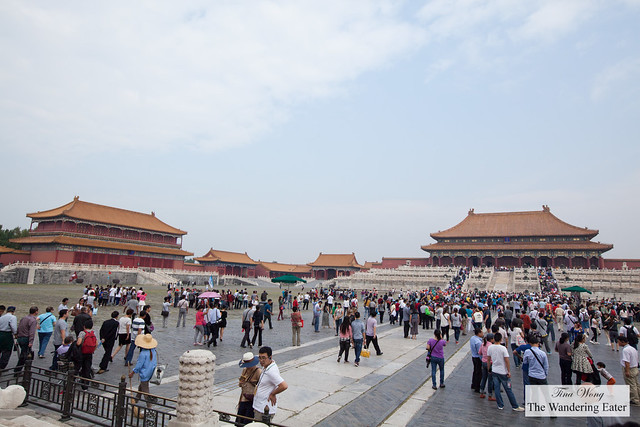 At Gate of Supreme Harmony Inside Forbidden City, Beijing, China
