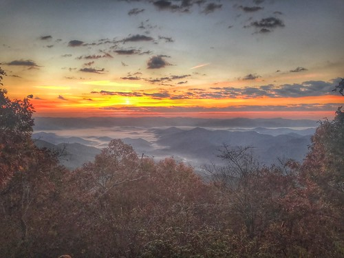 morning dawn at appalachian trail sunrise mountains fall bryson city