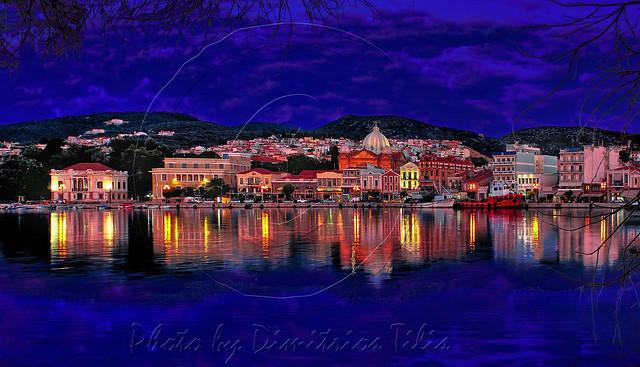 Ξημέρωμα στο λιμάνι της Μυτιλήνης Daybreak at Mytilene's port
