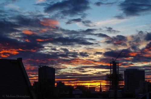 city winter sky building skyline clouds oregon sunrise portland dawn colorful december pentax silhouettes portlandoregon bedroomview 2014 pentaxk50 1232014 ©melissadonaghue