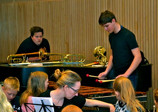 Alfred Bigelius spelar Marimba i solistttävlingen