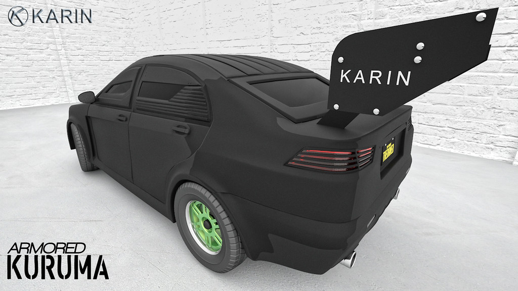 Armored Karin Kuruma Spoiler    3Ds Max 2011 + Photoshop CC
