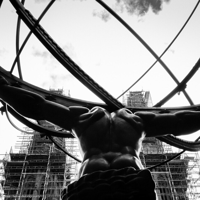 Atlas Sculpture in front of St Patrick's Cathedral