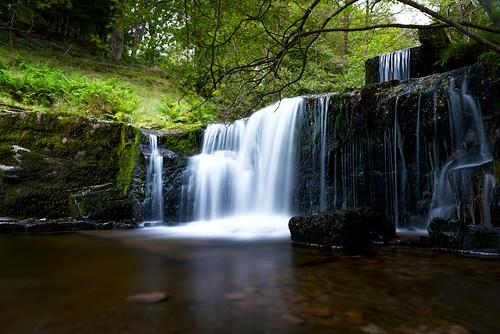 water waterfall longexposure green breconbeacons wales blaenyglyn