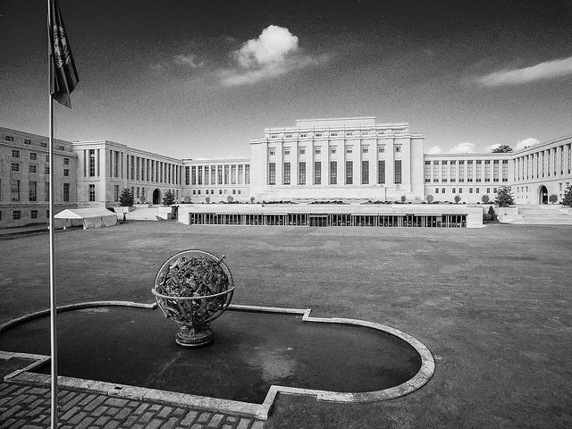 Outside view of the United Nations, Geneva