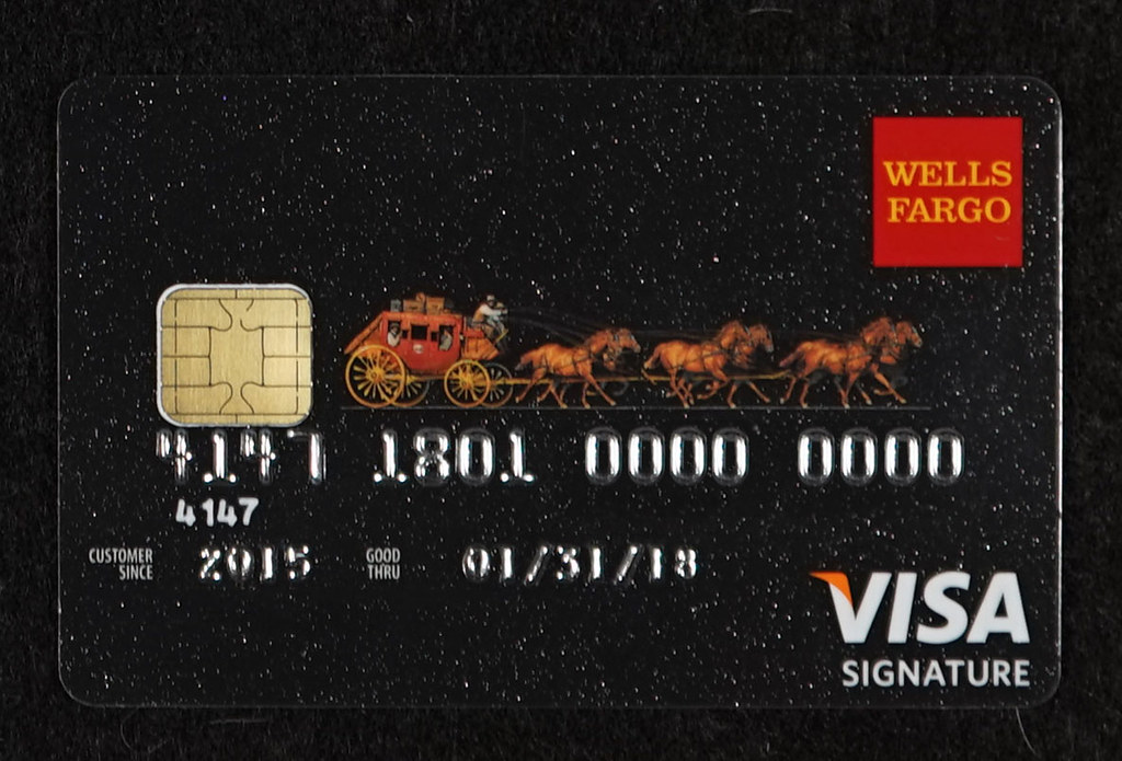 Chip-enabled Wells Fargo Visa Signature Credit Card  Flickr
