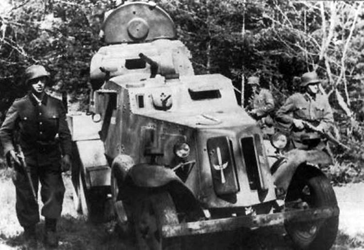 捕獲したロシアBA-10M