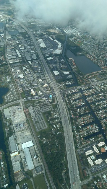Interstate 95 Florida  View is from Fort Lauderdale Hollywood International Airport to just south of Hollywood #HTC #aerial #Florida