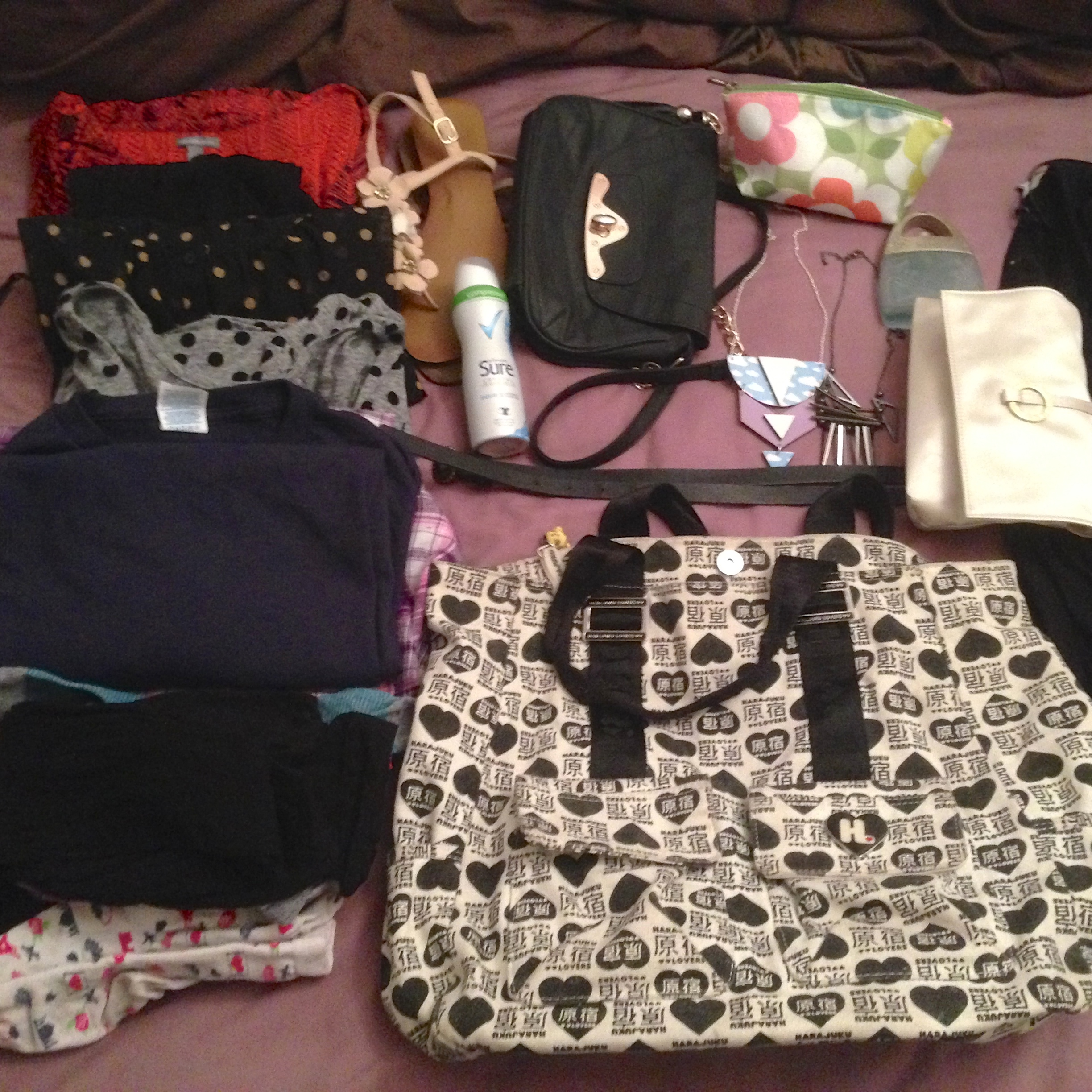 Packing challenge: How I packed a shoulder bag for one weekend