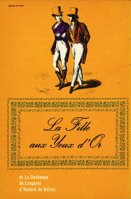 Livre de Poche 356 - Honoré de Balzac - La Fille aux Yeux d'Or