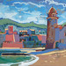 Collioure, Gouache on board, 33x25cm