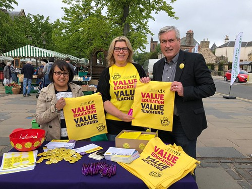 With Cllr Shamin Akhtar supporting the local EIS in Haddington | by Iain Gray MSP