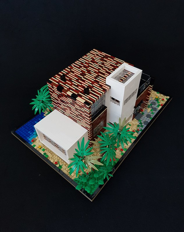 Coral House MOC slightly from above