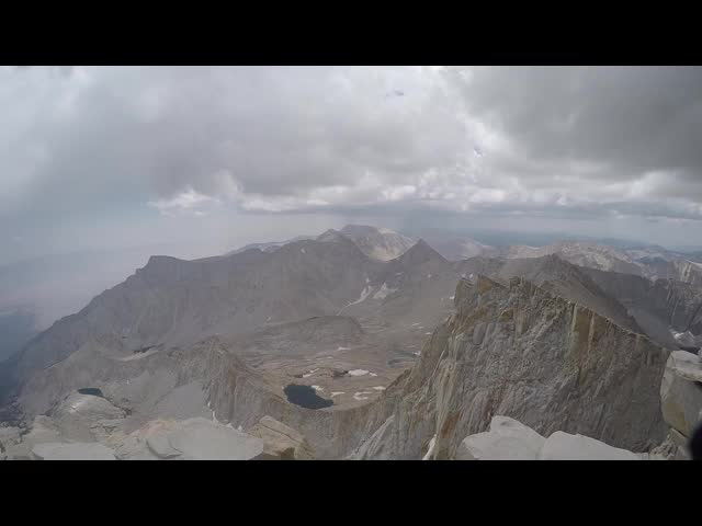 1612 GoPro panorama video from the summit of Mount Whitney