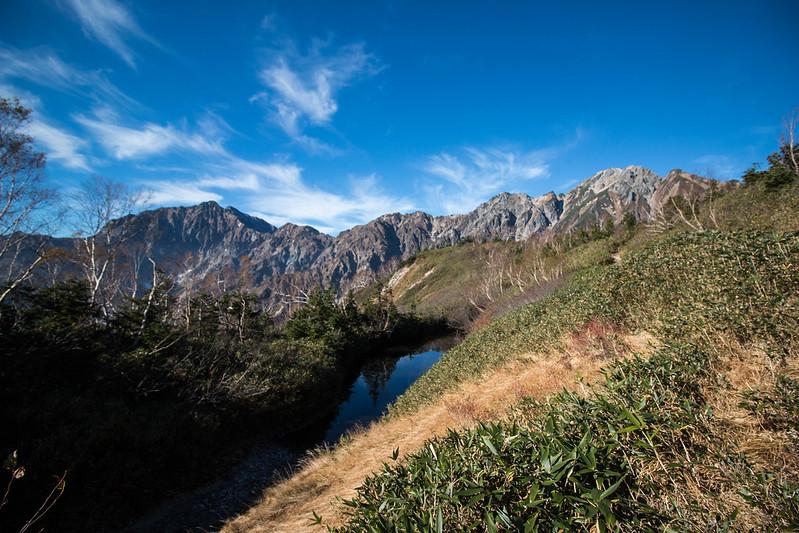 唐松岳と五竜岳