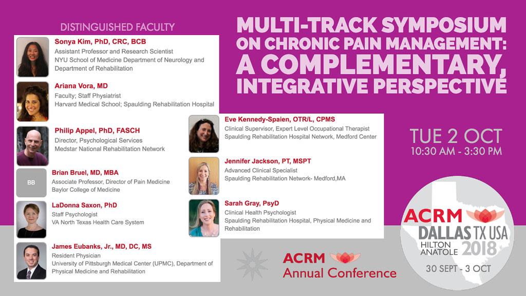 ACRM Conference Pain Rehabilitation session: 420625 Kim | Flickr