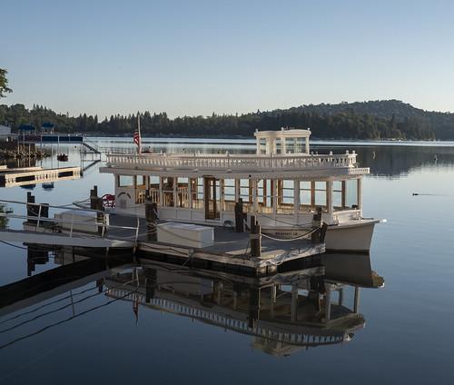 cocoabiscuit lakearrowhead california lake boat morning sunrise