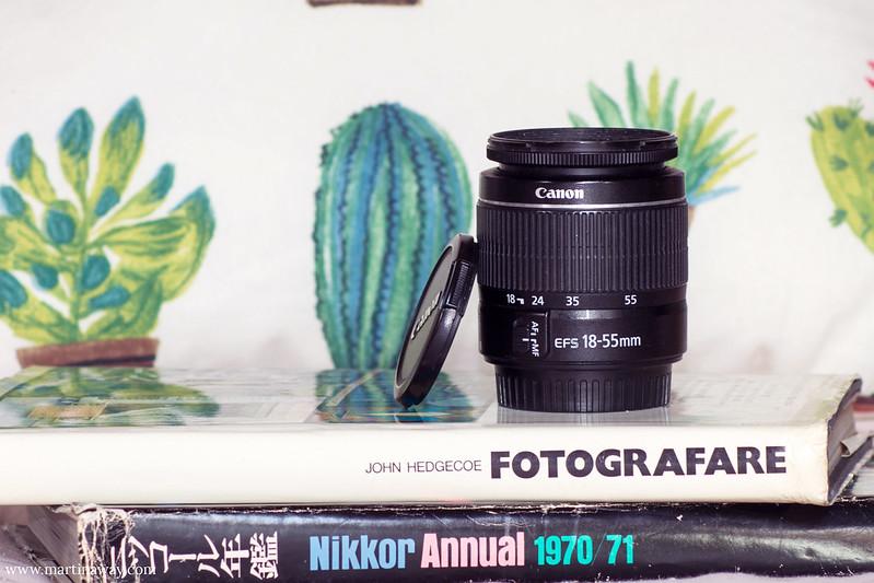 Obiettivo Canon 18-55mm, attrezzatura fotografica