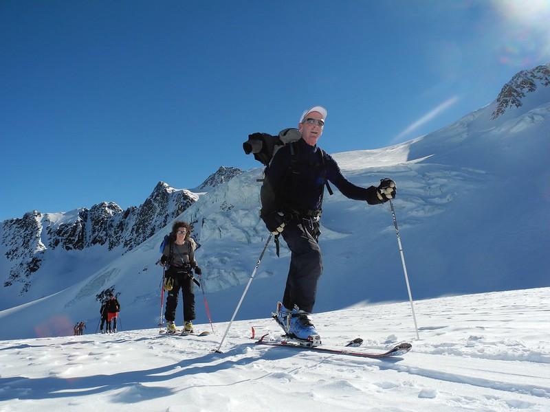 Skinning at 3000m behind the Wildspitz, Tirol's highest summit