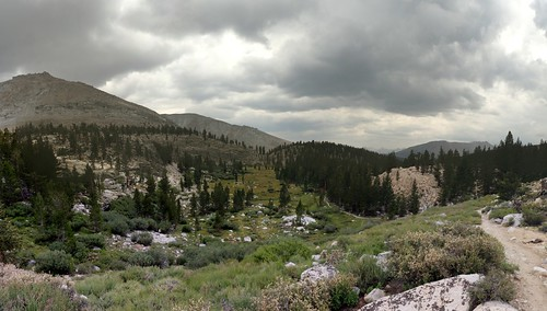 1115 Looking down the Whitney Creek drainage from a ridge below Timberline Lake on the JMT | by _JFR_