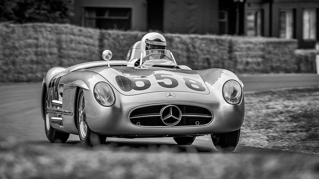 Juan Manuel Fangios 1955 Mille Miglia 2nd placed  Mercedes Benz 300 SLR 3.0 litre straight eight. -2