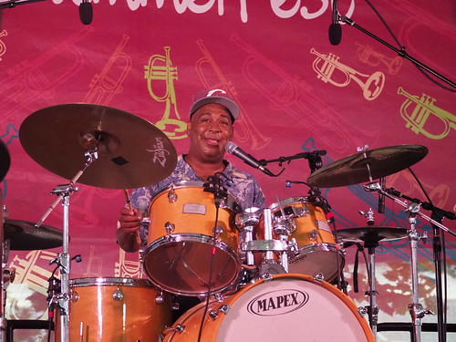 Shannon Powell Traditional All-Star Band at Satchmo SummerFest - Aug. 3, 2018. Photo by Michele Goldfarb.