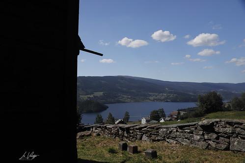 lomen staafkerk stavechurch norway noorwegen holiday vakantie view uitzicht slidrefjord