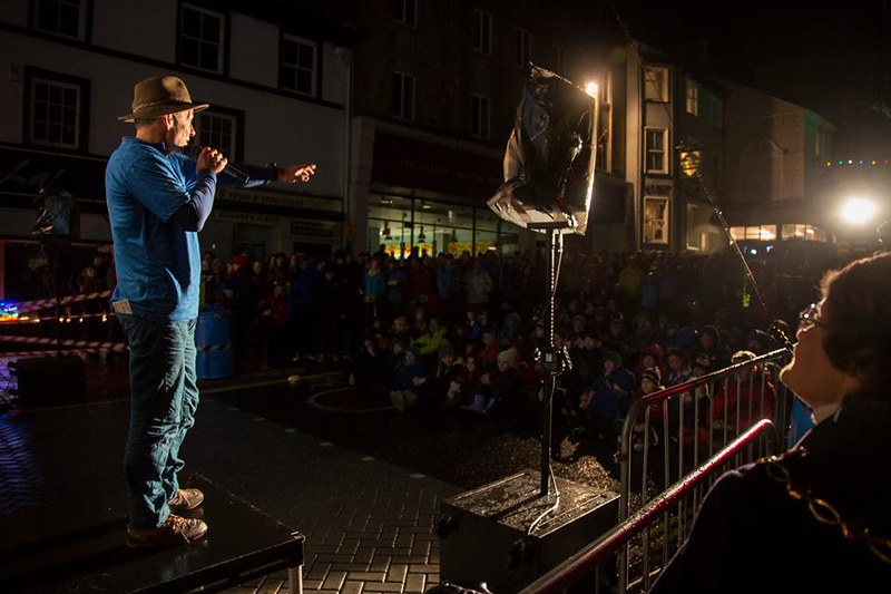 One of my great moments: opening the Festival in Kendal high street in 2015
