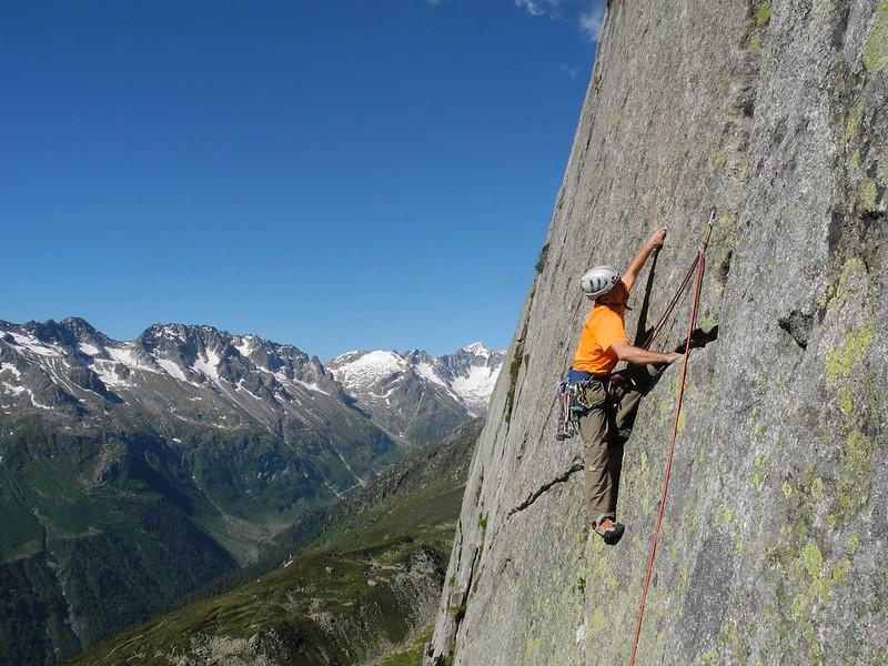 Technical rock near the Salbitschjen, Switzerland