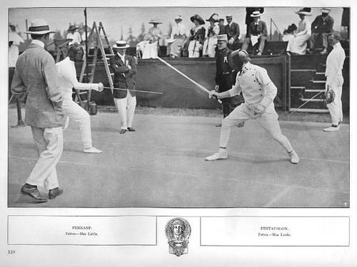 El General Patton participando en los juegos olimpicos
