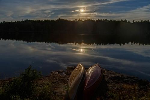 hartlake ontario canoes moonrise
