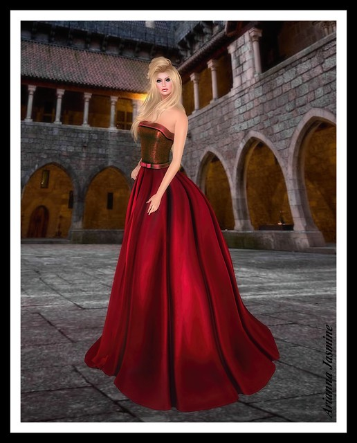 Nevaeh Gown in red by Snowpaws_001