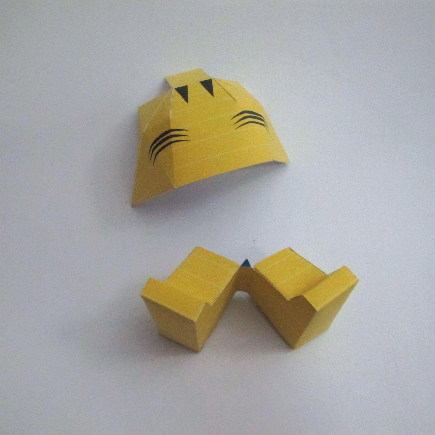 วิธีทำของเล่นโมเดลกระดาษ วูฟเวอรีน (Chibi Wolverine Papercraft Model) 026