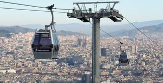 Telefèric de Montjuïc cars in Barcelona, Spain | by transitpeople